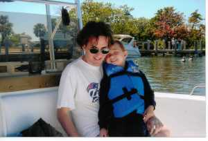 April, 2005, on a boat in Fort Lauderdale with my nephew Preston