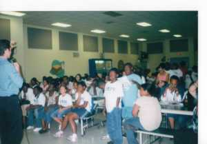 Fall, 2006: I brought WTVJ NBC6 meteorologist Paul Deanno visited Sibley Elementary's Saturday Academy to teach about weather