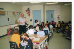 May, 2007: my father teaching my class about dentistry at Sibley Elementary's Career Day