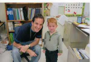 August, 2011: My nephew Logan visited as I set up my 1st grade classroom.