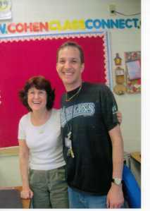 August, 2012: retiring teacher Sheila Cohen (no relation) helping me set up my new 3rd grade classroom, the one she'd vacated the previous fall