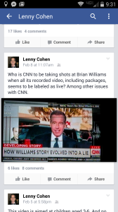 2015-02-07 Lenny's Facebook post on CNN & Brian Williams