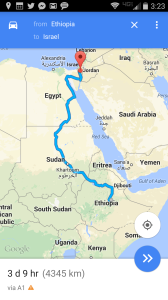 Google Maps, from Ethiopia (& its neighbors) to Israel