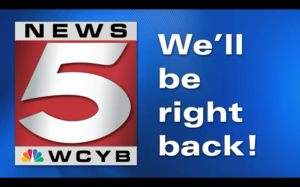 wcyb.com logo: be right back