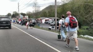 crowds walking 2
