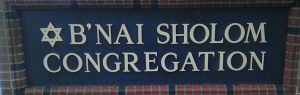 B'nai Sholom synagogue sign