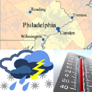 philadelphia weather forecast map logo