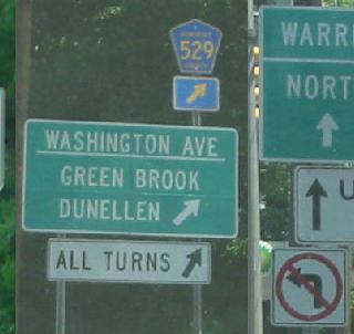 Public domain, jug handle signage