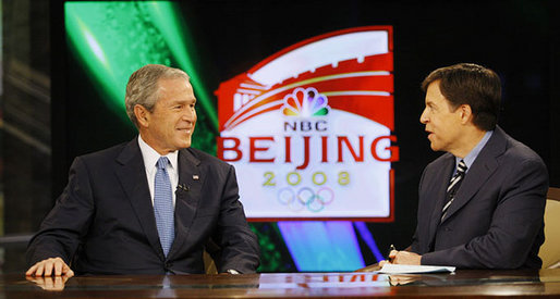 Bob Costas with President George W Bush Wikipedia