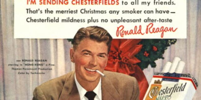 ronald reagan smoking