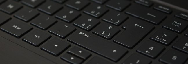 black laptop computer keyboard