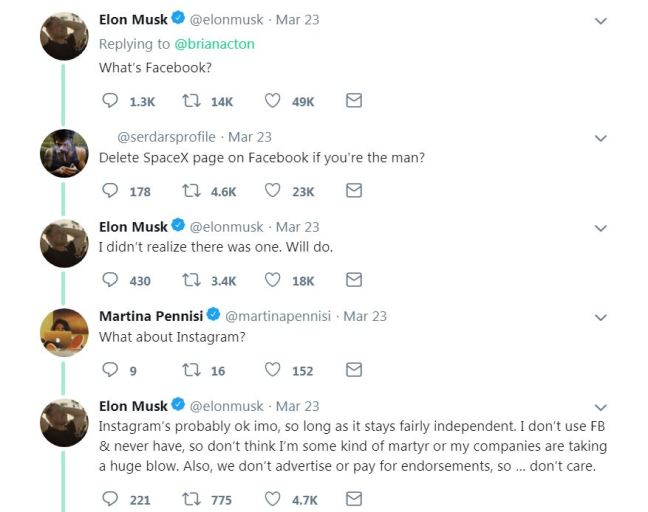 dare Musk delete FB