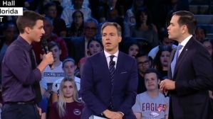 2018-02 kasky rubio tapper cnn town hall