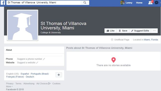 fb St Thomas of Villanova University