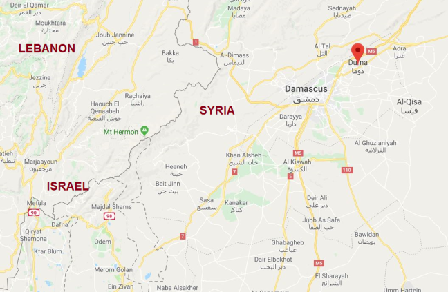 map Duma Douma Syria