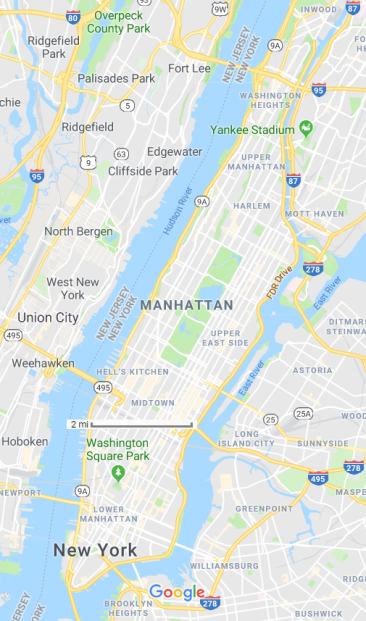 map manhattan