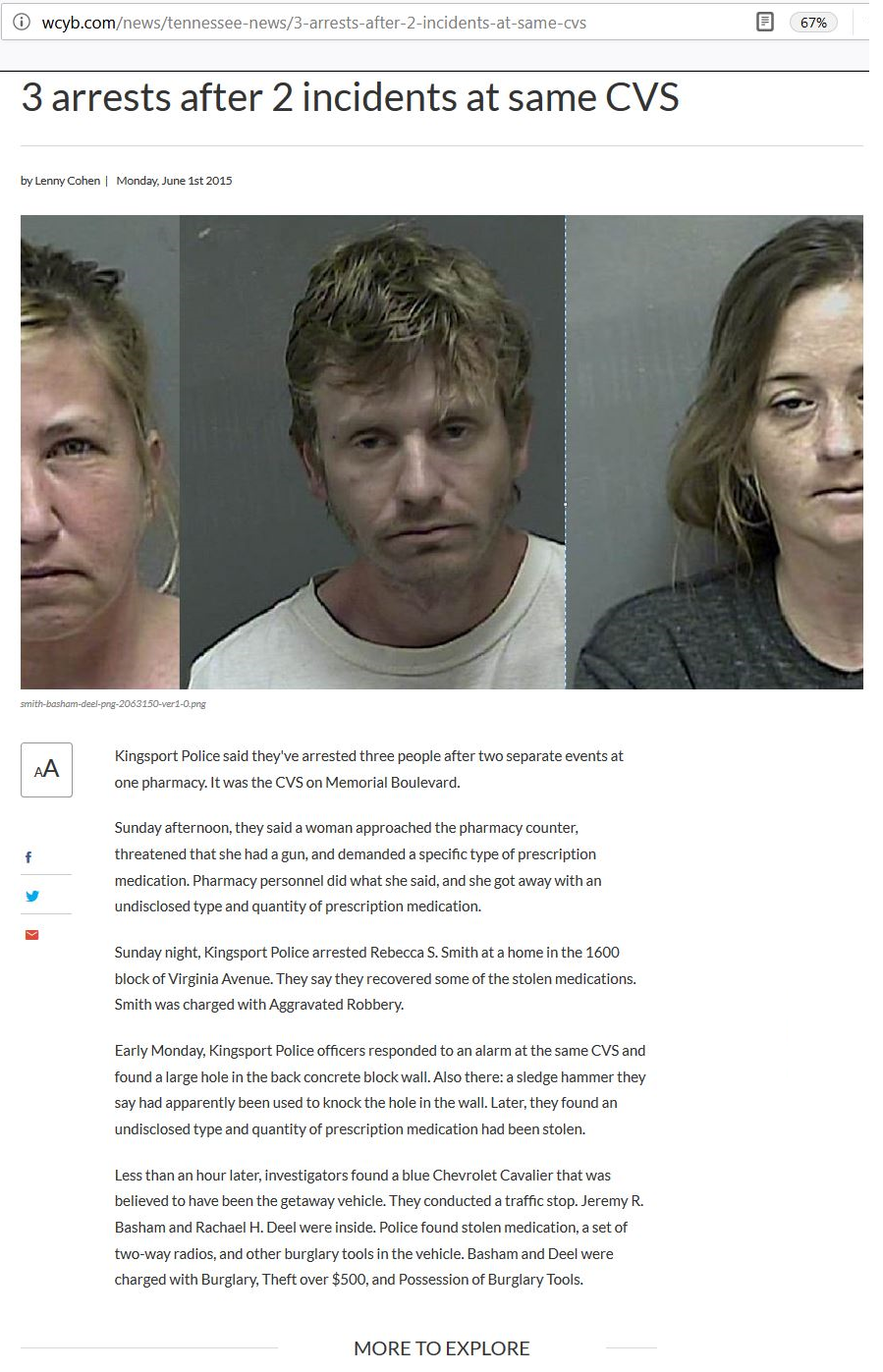 2015-06-01 3 arrests after 2 incidents at same CVS