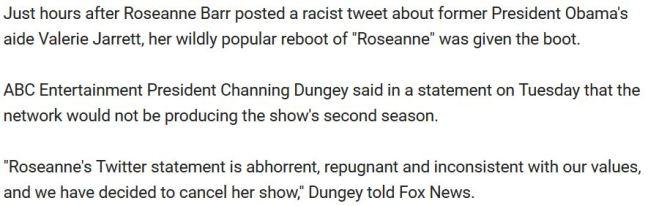 3 paragraphs Fox News Roseanne