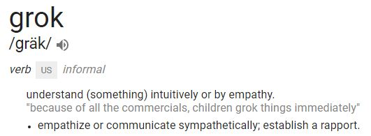 grok definition