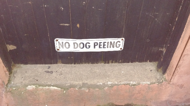 sign dog peeing