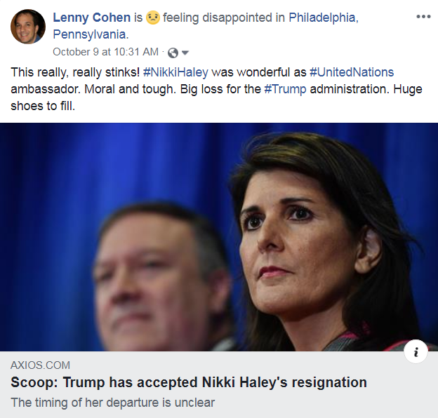 nikki haley fb post
