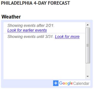 no forecast